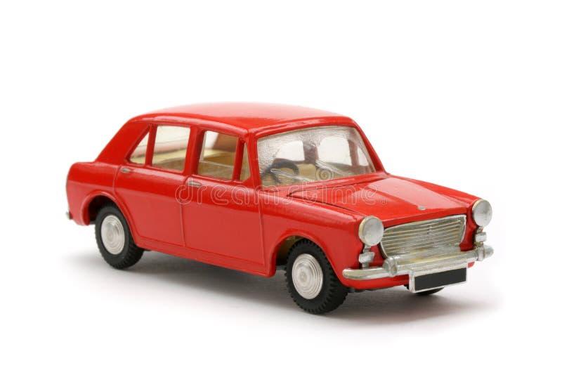 Automobile di modello del giocattolo britannico rosso di anni sessanta fotografie stock