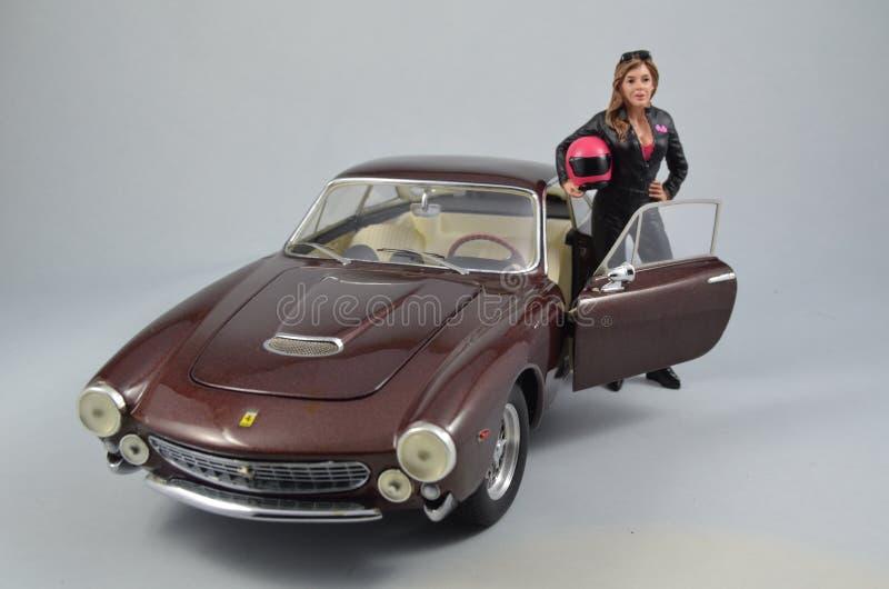 Automobile di modello dell'elite di Hotwheels di 1:18 di Ferrari 250GT Berlintta Lusso Steve McQueen fotografie stock libere da diritti