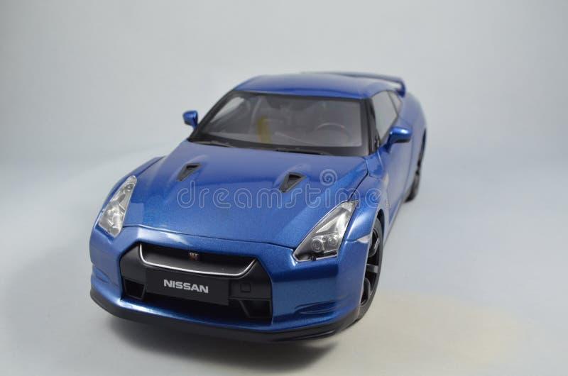 Automobile di modello di Norev di 1:18 di Nissan GT-R fotografia stock libera da diritti