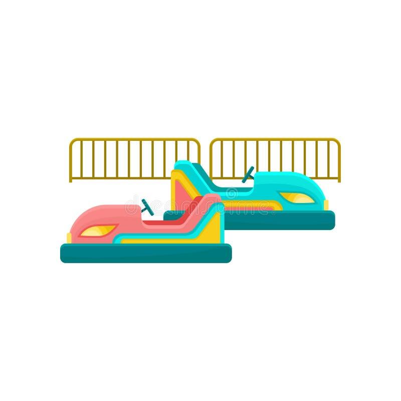 Automobile di paraurti, illustrazione di vettore dell'elemento del parco di divertimenti su un fondo bianco illustrazione di stock