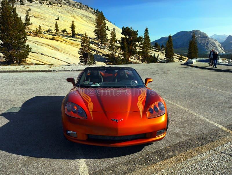 Automobile di passo di Chevrolet Corvette fotografia stock libera da diritti