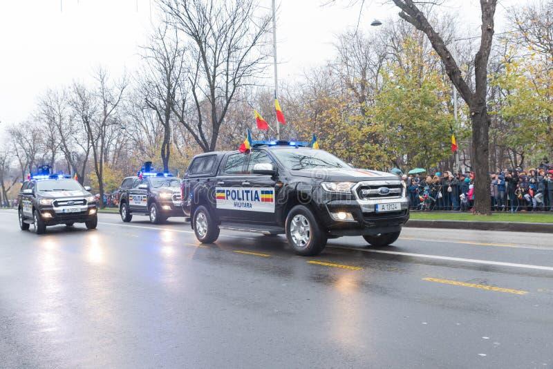 Automobile di polizia militare rumena fotografia stock