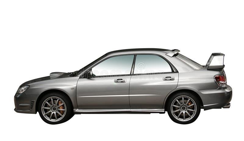 Automobile di raduno dell'argento 4WD isolata fotografia stock libera da diritti