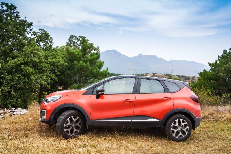 Automobile di Renault Captur dell'incrocio del Subcompact fotografia stock