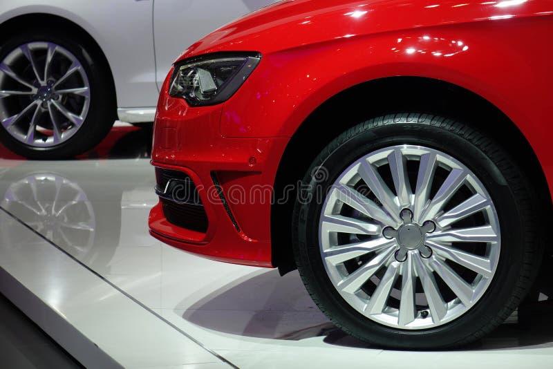 Automobile di rosso di Audi immagini stock