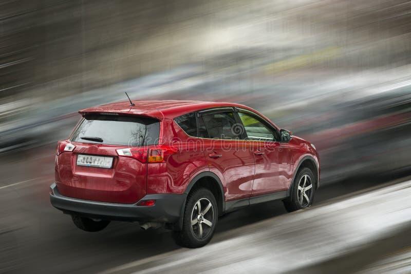 Automobile di rosso di Toyota immagini stock libere da diritti