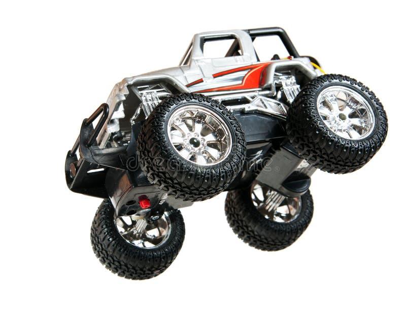 Automobile di salto del giocattolo immagini stock libere da diritti