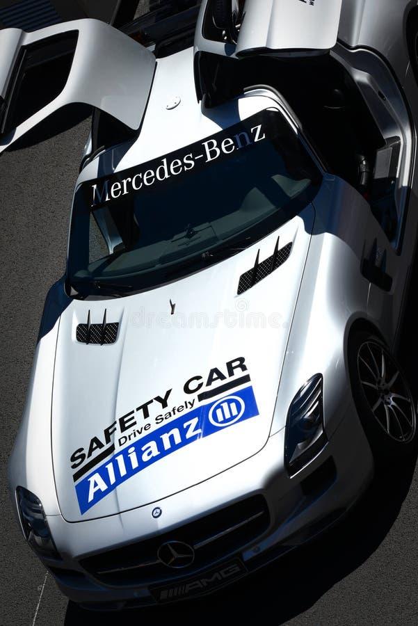 Automobile di sicurezza F1 immagine stock libera da diritti