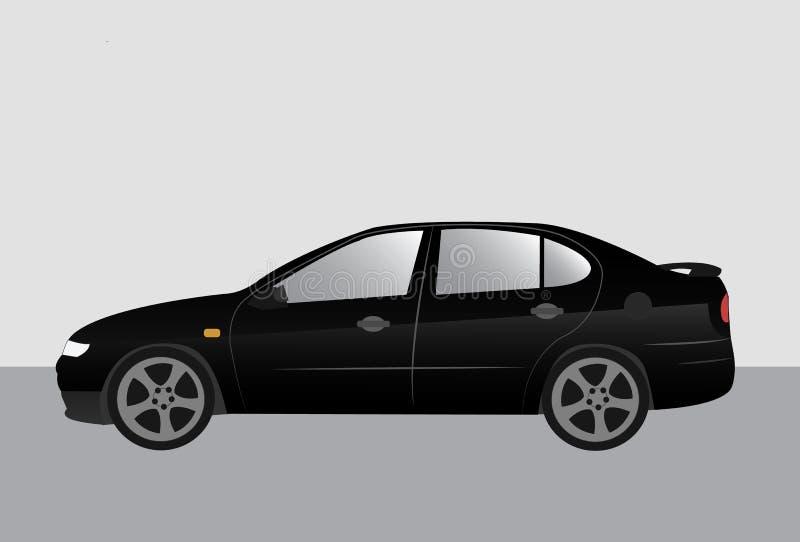 Automobile di sintonia di sport moderno nero fotografia stock libera da diritti