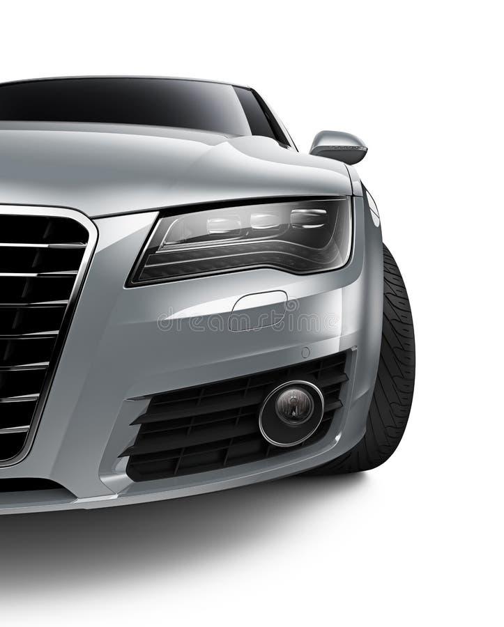 Automobile di Siver sul colpo potato bianco- illustrazione vettoriale
