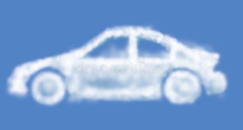 Automobile di sogno della nuvola illustrazione vettoriale