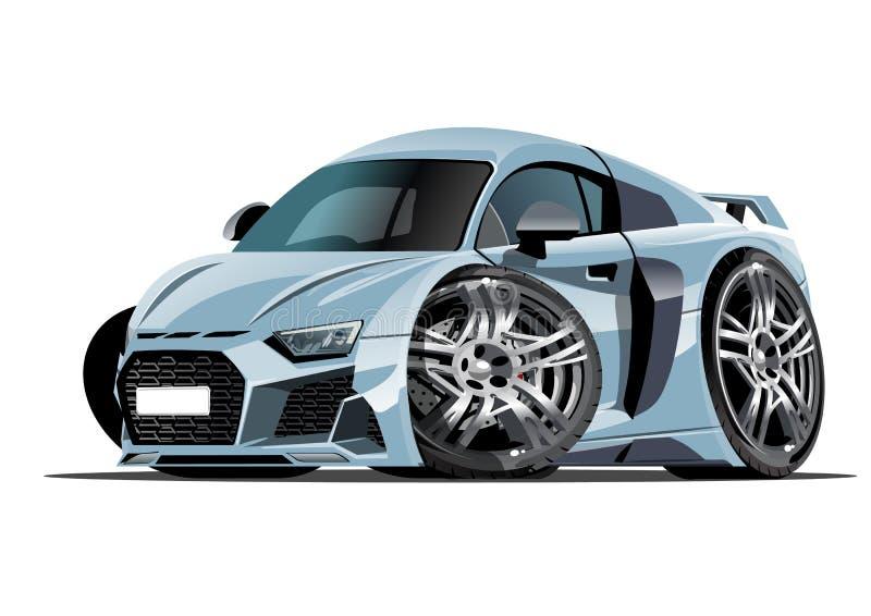 Automobile di vettore del fumetto isolata su fondo bianco illustrazione vettoriale