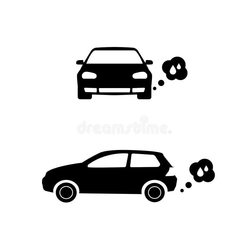 Automobile diesel icona diesel di vettore dell'automobile di concetto illustrazione vettoriale