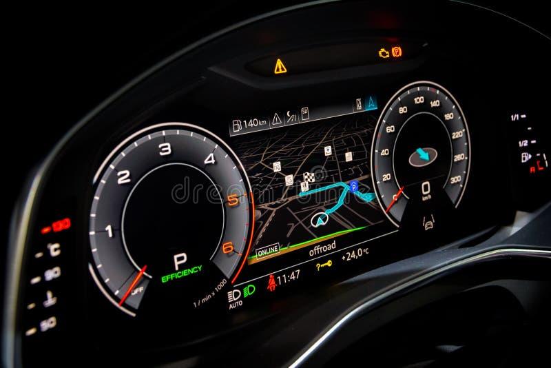 automobile digitale di dahboard immagini stock libere da diritti