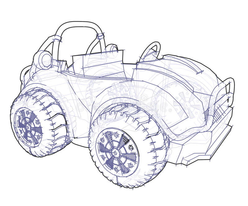 Download Automobile Drawing stock illustration. Image of drawing - 12045438
