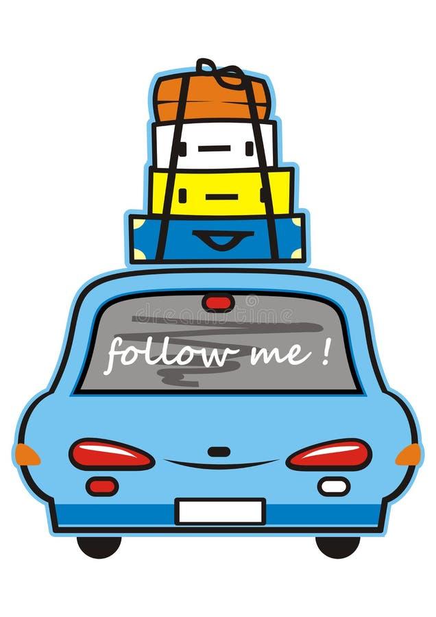 Automobile e bagagli illustrazione di stock