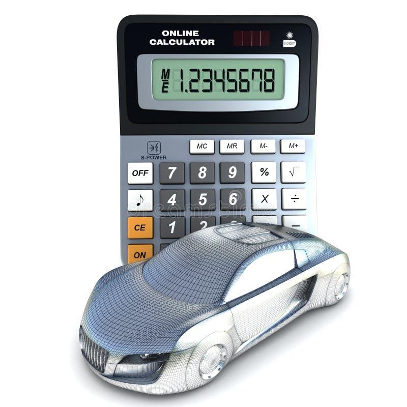 Automobile e calcolatore royalty illustrazione gratis