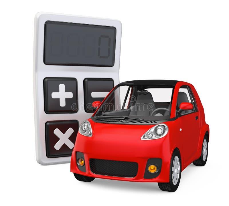 Automobile e calcolatore isolati royalty illustrazione gratis