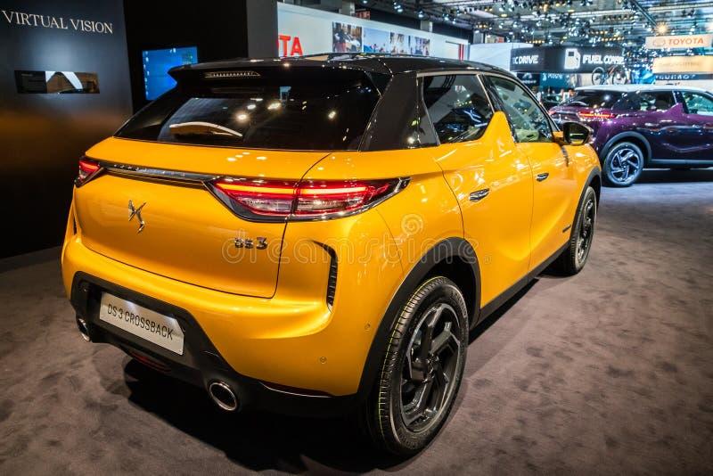Automobile E-tesa del DS3 Crossback di Citroen immagini stock libere da diritti