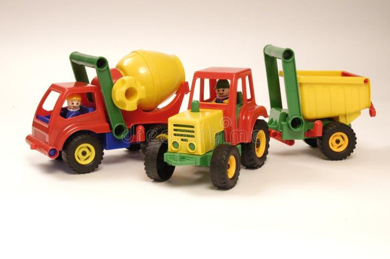 Automobile e trattore del giocattolo fotografia stock