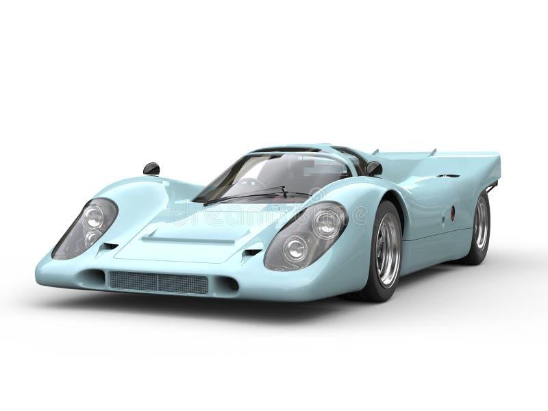 Automobile eccellente d'annata molto blu-chiaro illustrazione vettoriale