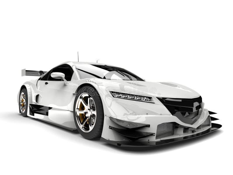 Automobile eccellente della corsa moderna bianca fresca royalty illustrazione gratis