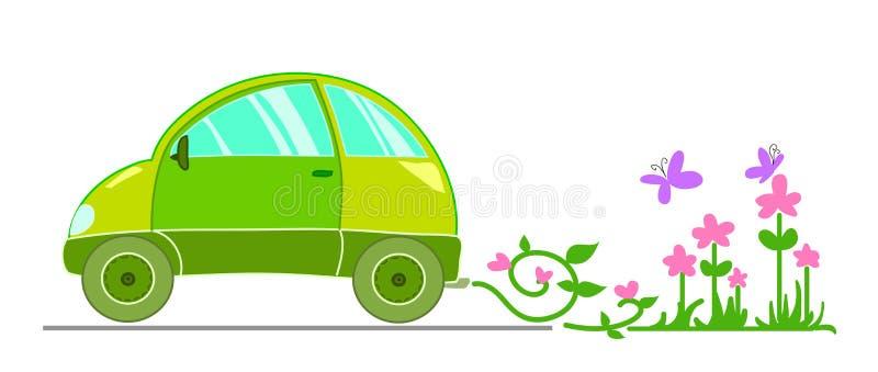 Automobile ecologica illustrazione di stock