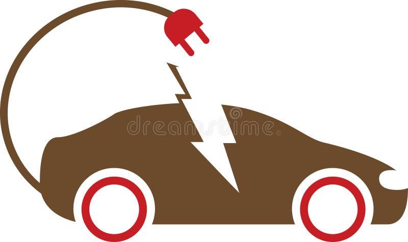 Automobile elettrica di carico illustrazione di stock