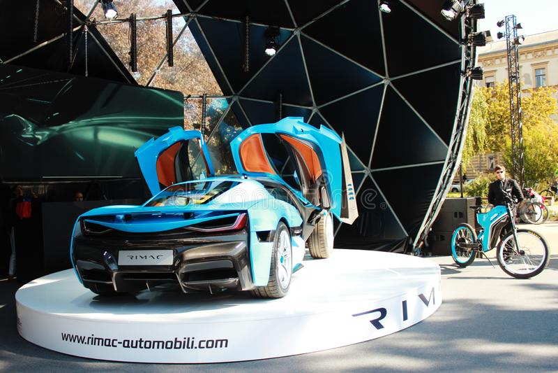 Automobile elettrica di Rimac CTWO immagini stock libere da diritti