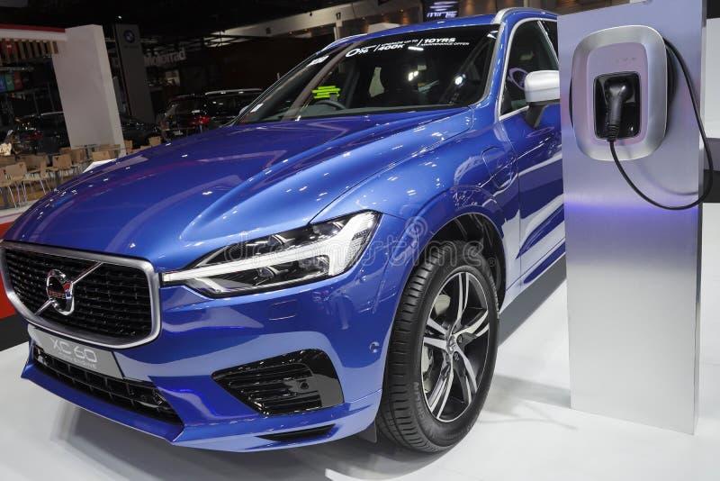 Automobile elettrica ibrida 60 di Volvo Xc in Motorshow 2019 fotografia stock