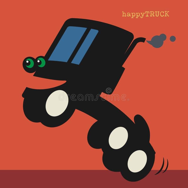 Automobile felice del camion del fumetto illustrazione vettoriale
