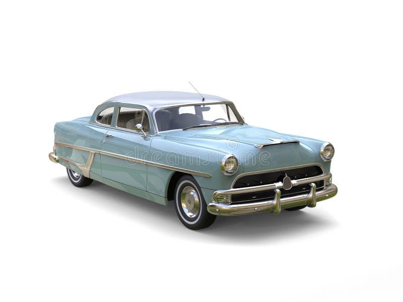 Automobile frais bleu azuré de vintage reconstitué illustration de vecteur