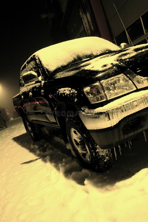 Automobile fredda fotografia stock