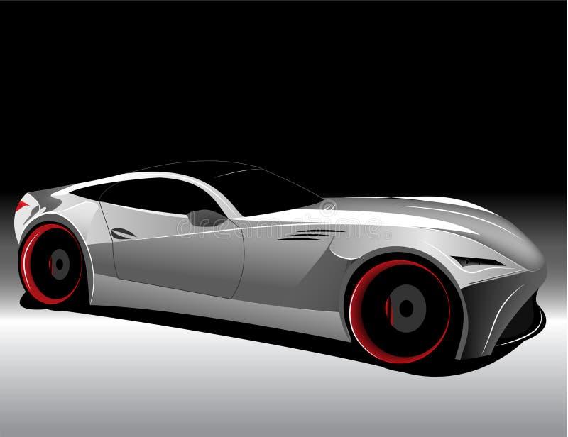 Automobile futuristica di concetto illustrazione di stock