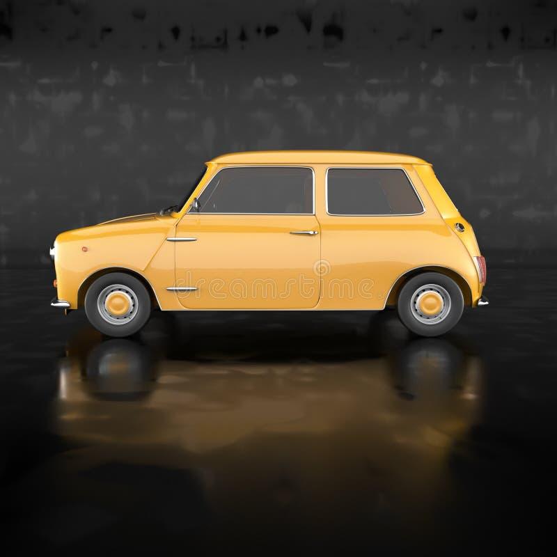 Automobile gialla illustrazione di stock