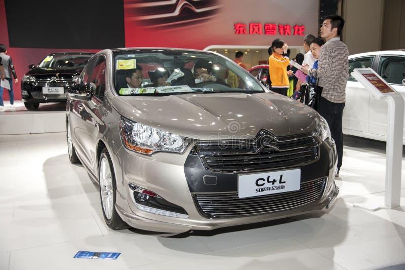Automobile grigia di Citroen c4l del dongfeng immagini stock