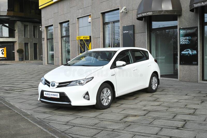 Automobile ibrida parcheggiata fotografia stock