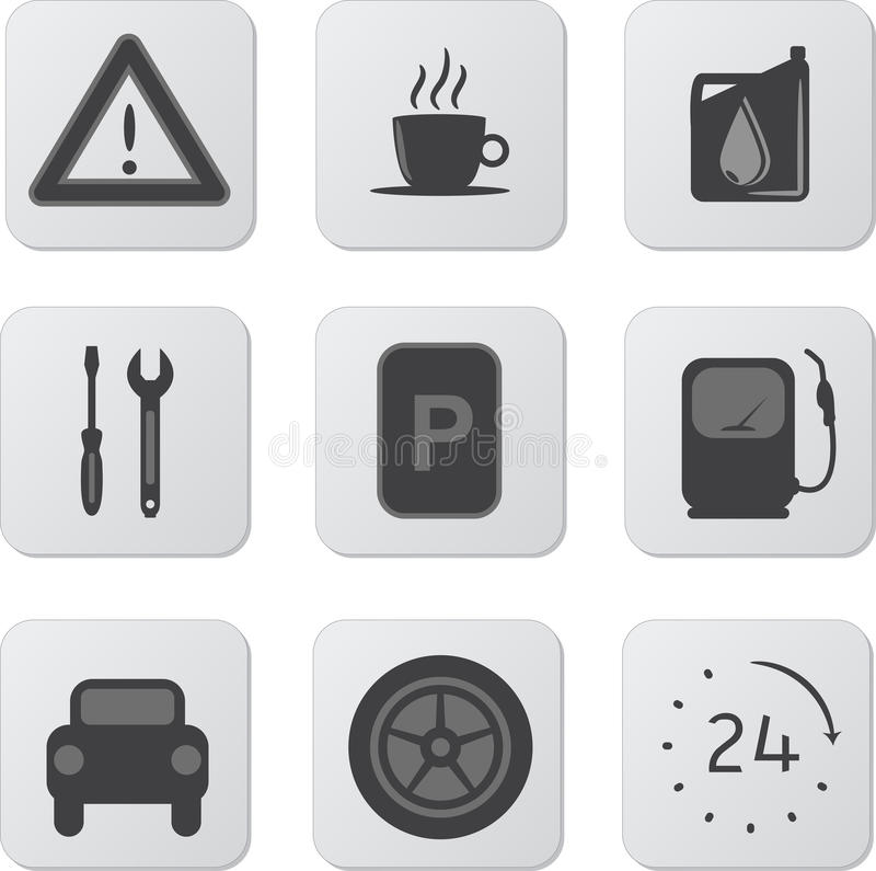 Download Automobile Icons stock vector. Image of attention, coffee - 26187553