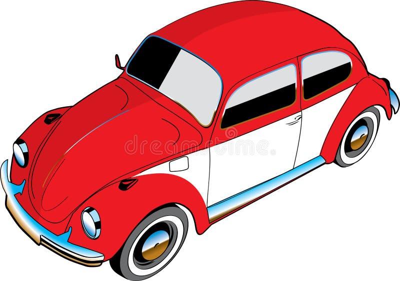 Automobile illustrata dello scarabeo di VW royalty illustrazione gratis