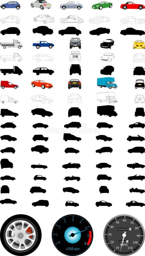 Automobile illustrations royalty free illustration