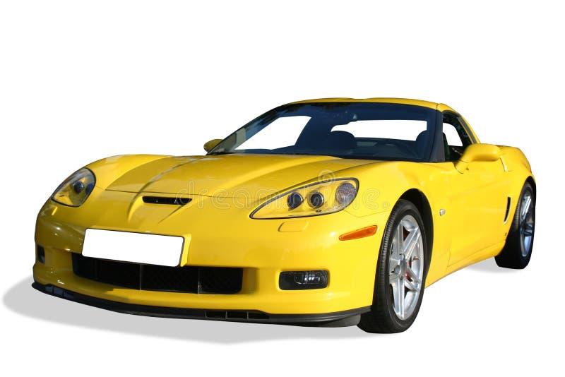 Automobile jaune de sport photo stock