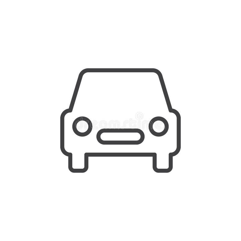 automobile ligne ic ne signe de voiture de vecteur d 39 ensemble illustration de vecteur. Black Bedroom Furniture Sets. Home Design Ideas