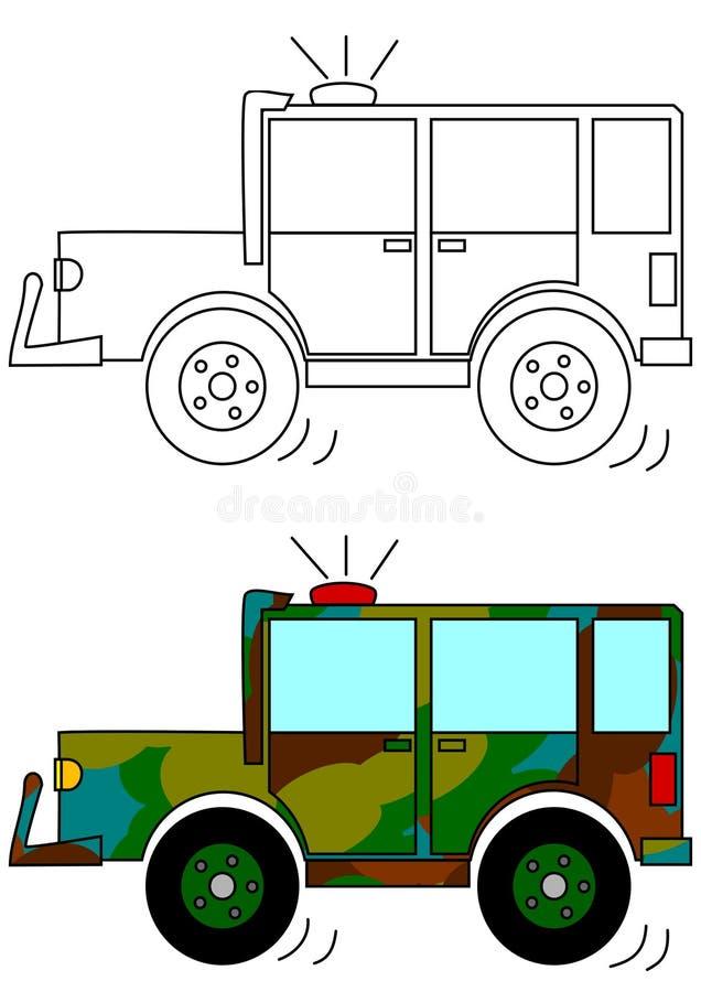 Automobile militare mascherata royalty illustrazione gratis