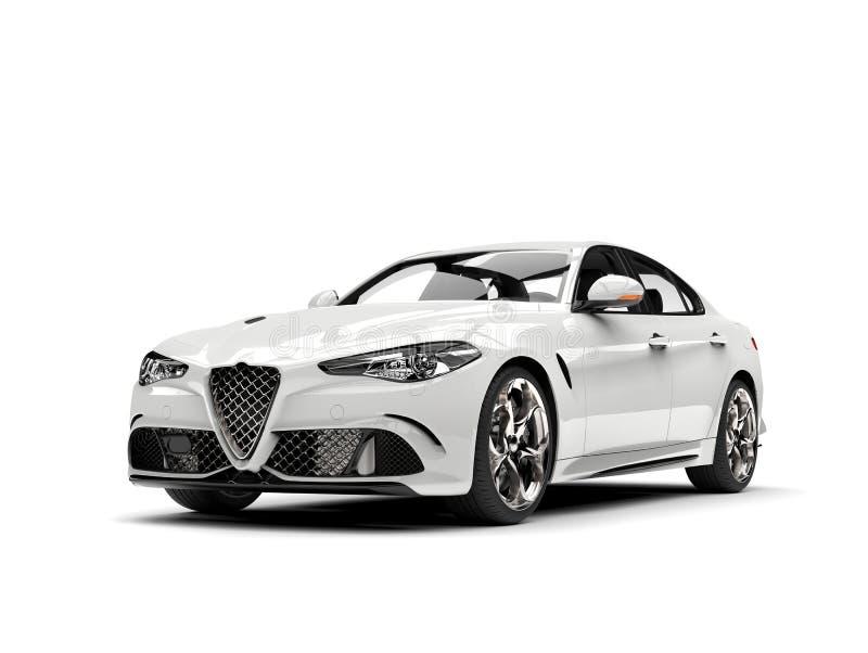 Automobile moderna bianca del modello fresco illustrazione vettoriale