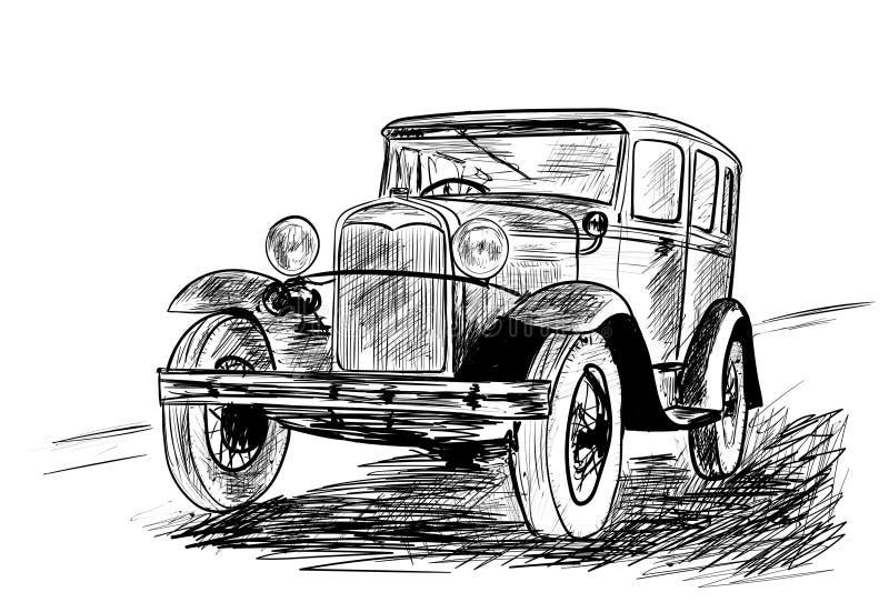 Automobile molto vecchia illustrazione di stock