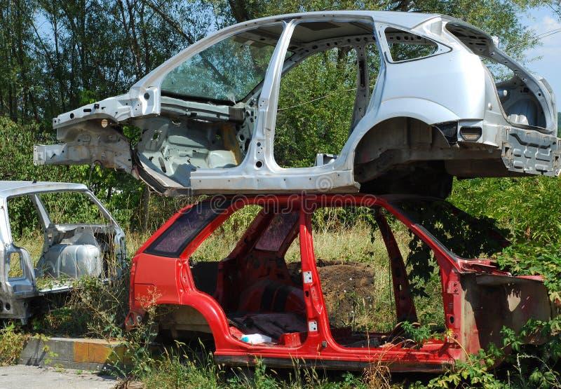 Automobile morgue cars stock images