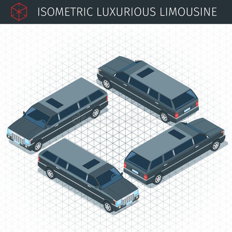 Automobile nera delle limousine illustrazione vettoriale