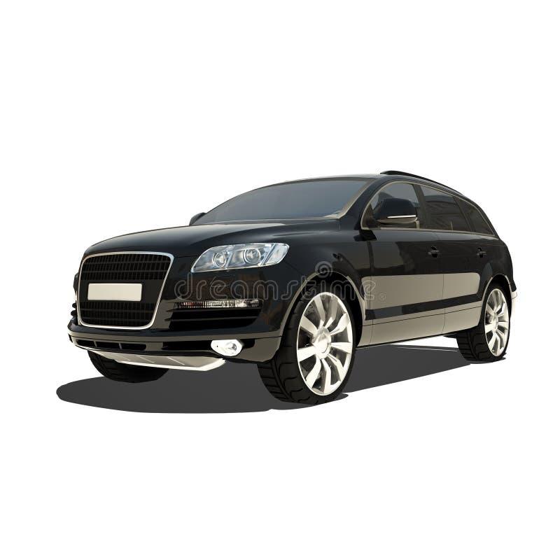 Automobile nera tedesca isolata su bianco illustrazione di stock