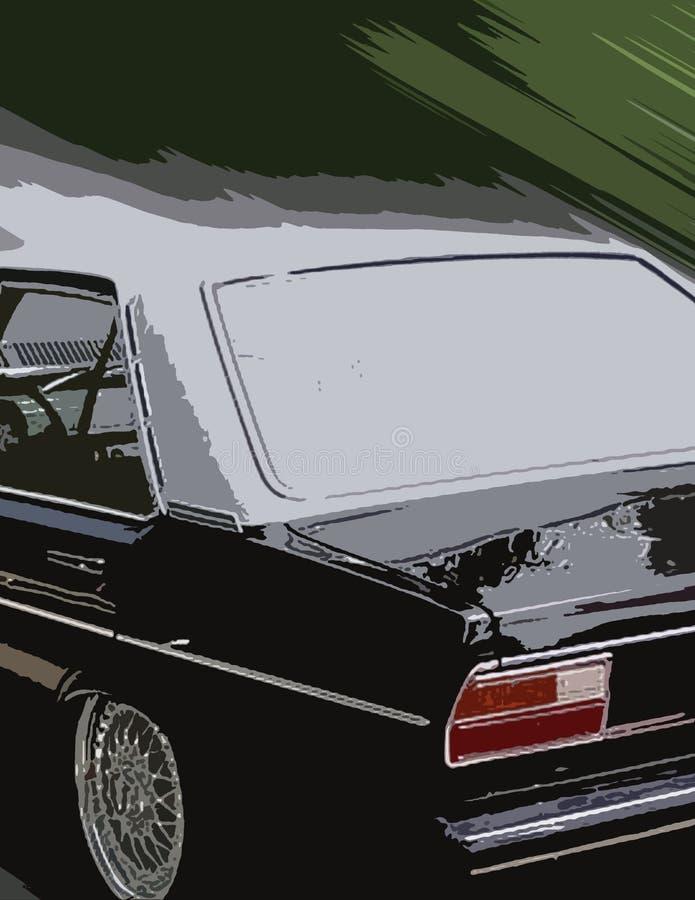 Automobile noire image libre de droits