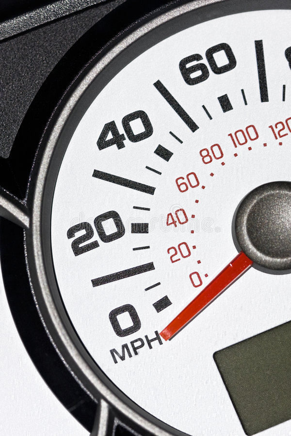 An automobile odometer. Close up royalty free stock photography
